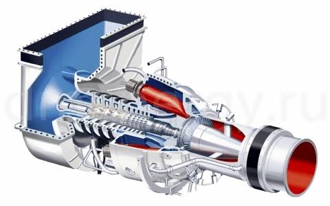 Одновальная версия турбины Siemens SGT-100