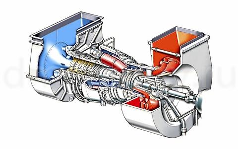 Двухвальная версия турбины Siemens SGT-100