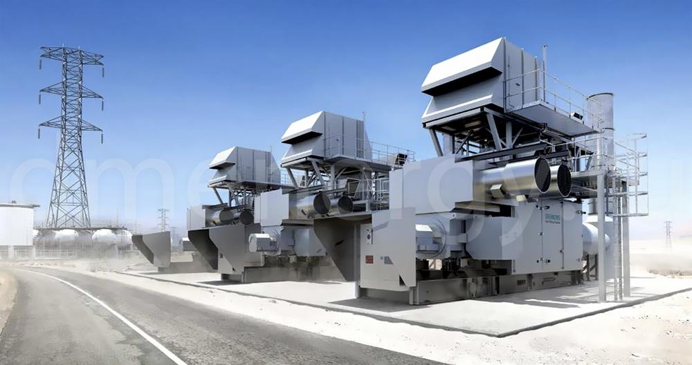 Применение турбины Siemens SGT-100