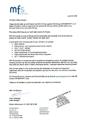 MFS authorization letter