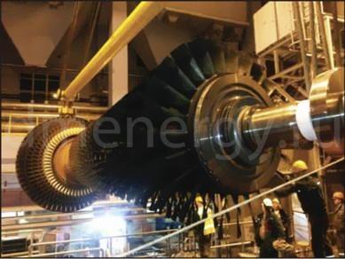 Установка ротора ГТУ Alstom GT13E2