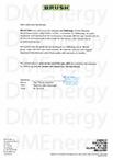 Авторизационное письмо DMEnergy от Brush