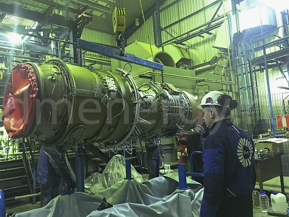 Installation of the gas generator