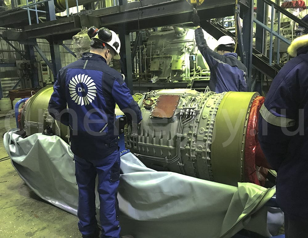 Inspection of the turbine
