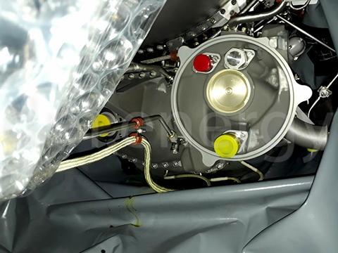 Новый газогенератор Pratt&Whitney FT8 в чехле