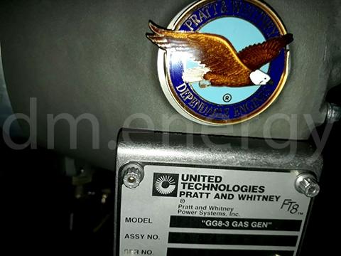 Газогенератор Pratt&Whitney FT8. Заводская табличка