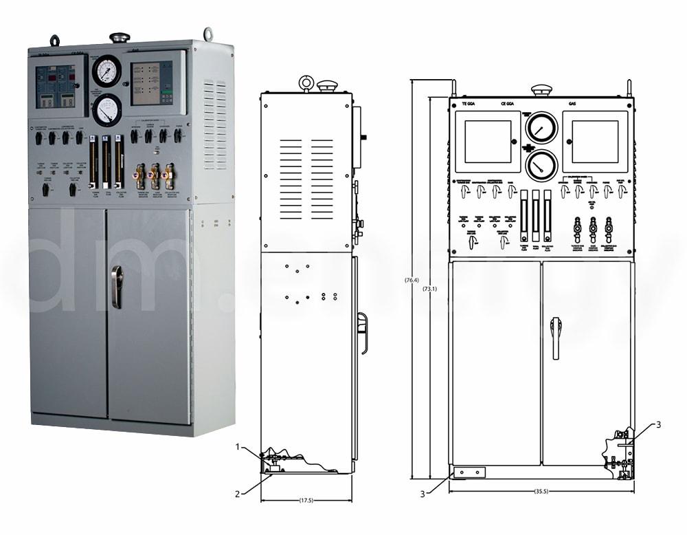 Шкаф регулирования подачи водорода E/One (HCC II)