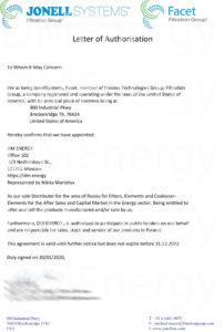 Jonell Distributor letter 202x300 - Фильтры Jonell